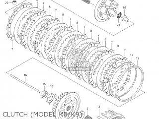 Suzuki RM-Z250 2007 (K7) USA (E03) RMZ250 RM Z250 parts