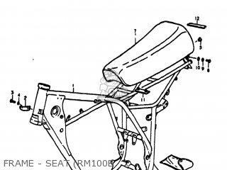 Suzuki RM100 1976 (A) USA (E03) parts lists and schematics
