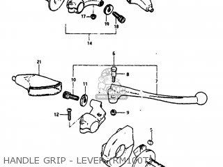 Suzuki Rm100 1979 (d) Usa (e03) parts list partsmanual