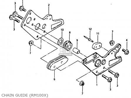 Suzuki RM100 1979 (N) parts lists and schematics