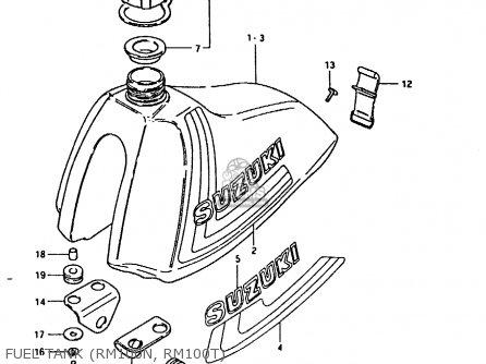 Suzuki Rm100 1980 (t) parts list partsmanual partsfiche