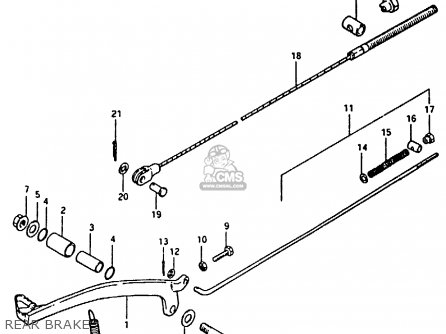 Suzuki Rm100 1981 (x) parts list partsmanual partsfiche