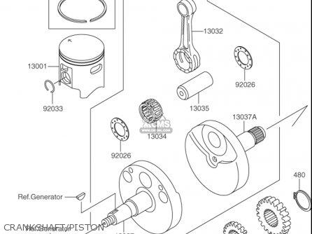 Suzuki Rm100 2003 (usa) parts list partsmanual partsfiche