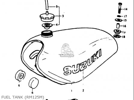 Suzuki Rm125 1975-1978 (usa) parts list partsmanual partsfiche