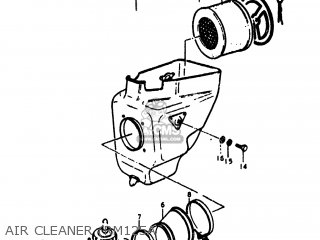 Suzuki Rm125 1975 (m) Usa (e03) parts list partsmanual