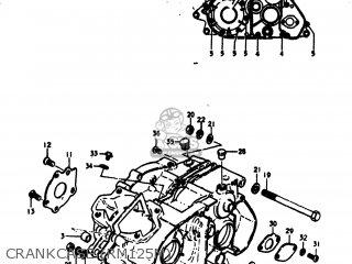 Suzuki Rm125 1975 (m) Usa (e03) parts list partsmanual