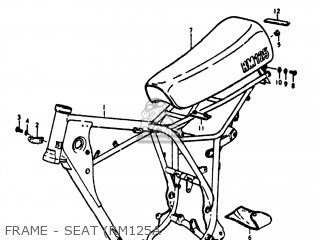 Suzuki RM125 1977 (B) USA (E03) parts lists and schematics