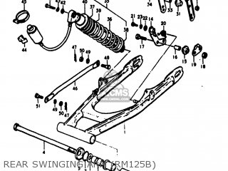 Suzuki RM125 1977 (B) USA (E03) parts lists and schematics