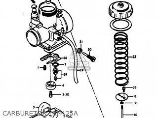 Suzuki Rm125 1978 (c) Usa (e03) parts list partsmanual