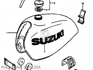 Suzuki RM125 1978 (C) USA (E03) parts lists and schematics