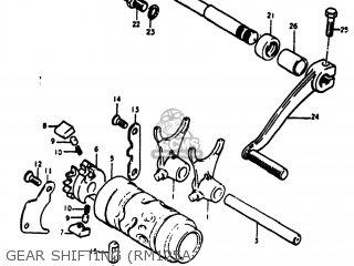 Suzuki RM125 1978 (C) USA (E03) parts lists and schematics