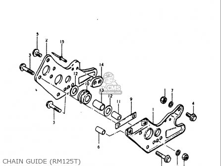 Suzuki Rm125 1979 1980 (n T) Usa (e03) parts list