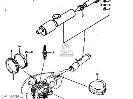 Suzuki Rm125 1979 1980 (n T) Usa (e03) parts list
