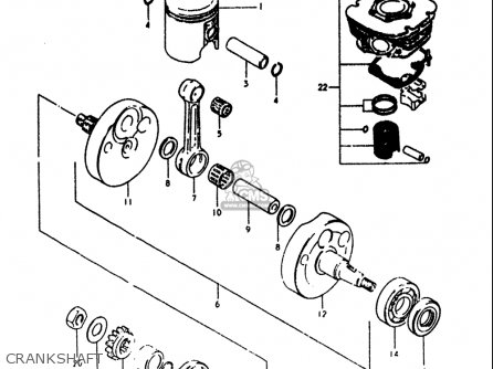 Suzuki Rm125 1979-1980 (usa) parts list partsmanual partsfiche
