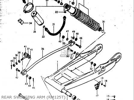 Suzuki Rm125 1979-1980 (usa) parts list partsmanual partsfiche