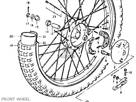 Suzuki Rm125 1979 (n) parts list partsmanual partsfiche