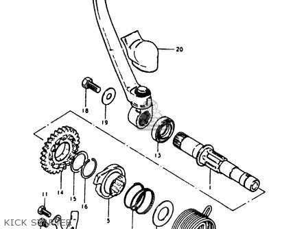Suzuki Rm125 1979 (n) parts list partsmanual partsfiche