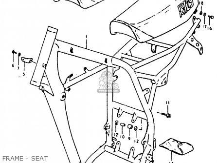 Suzuki RM125 1980 (T) parts lists and schematics