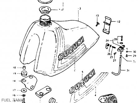 Suzuki RM125 1980 (T) parts lists and schematics