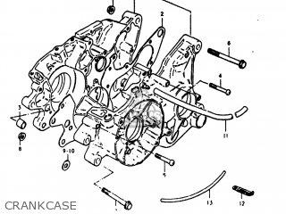 Suzuki Rm125 1980 (t) Usa (e03) parts list partsmanual