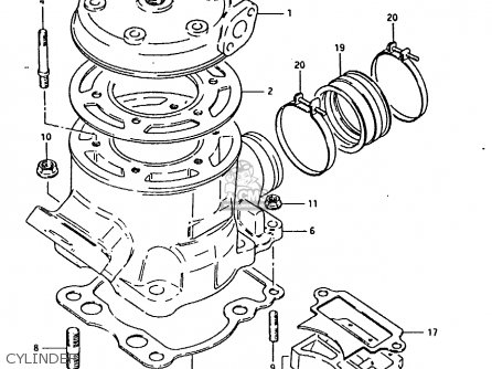 Suzuki Rm125 1981 (x) parts list partsmanual partsfiche