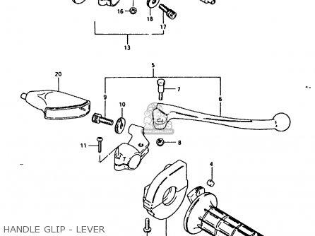 Suzuki RM125 1981 (X) parts lists and schematics