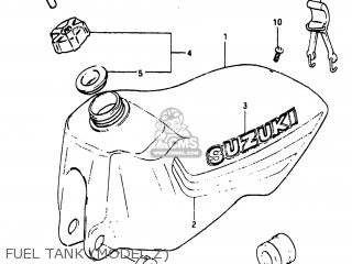 Suzuki RM125 1981 (X) USA (E03) parts lists and schematics