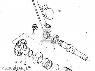 Suzuki RM125 1981 (X) USA (E03) parts lists and schematics