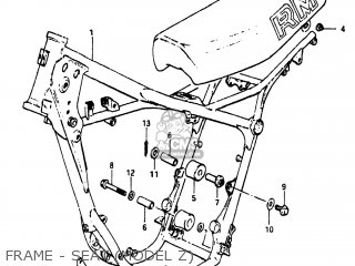 Suzuki RM125 1982 (Z) USA (E03) parts lists and schematics