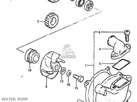 Suzuki Rm125 1983 (d) parts list partsmanual partsfiche