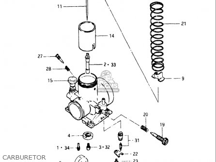 Suzuki Rm125 1983 (usa) parts list partsmanual partsfiche