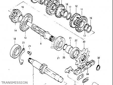 Suzuki Rm125 1983 (usa) parts list partsmanual partsfiche