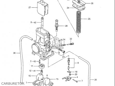 Suzuki Rm125 1984-1985 (usa) parts list partsmanual partsfiche