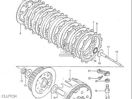Suzuki Rm125 1984-1985 (usa) parts list partsmanual partsfiche