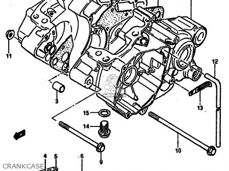 Suzuki Rm125 1984 (e) General France (e01 E04) parts list