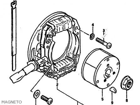 Suzuki RM125 1984 (E) GENERAL FRANCE (E01 E04) parts lists