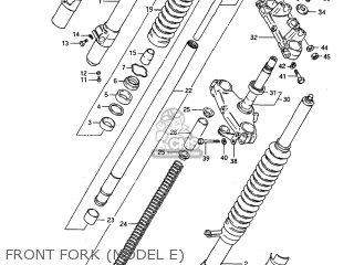 Suzuki Rm125 1984 (e) Usa (e03) parts list partsmanual
