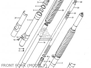Suzuki RM125 1984 (E) USA (E03) parts lists and schematics