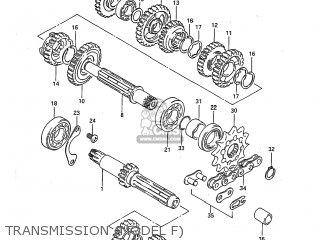 Suzuki RM125 1984 (E) USA (E03) parts lists and schematics