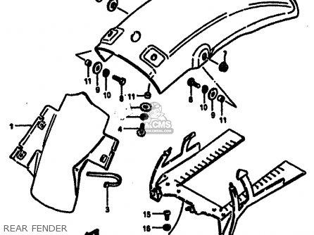Suzuki Rm125 1985 (f) parts list partsmanual partsfiche
