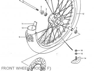 Suzuki Rm125 1985 (f) Usa (e03) parts list partsmanual