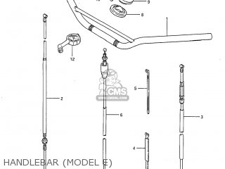 Suzuki RM125 1985 (F) USA (E03) parts lists and schematics
