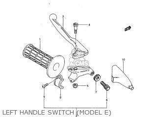 Suzuki RM125 1985 (F) USA (E03) parts lists and schematics