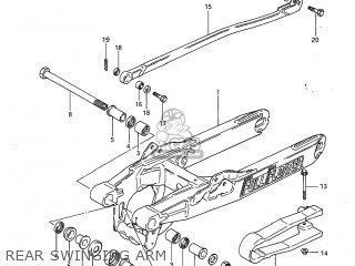 Suzuki Rm125 1985 (f) Usa (e03) parts list partsmanual