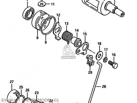 Suzuki RM125 1987 (H) (E01 E02 E04 E24) parts lists and