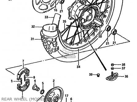 Suzuki Rm125 1987 (h) (e01 E02 E04 E24) parts list