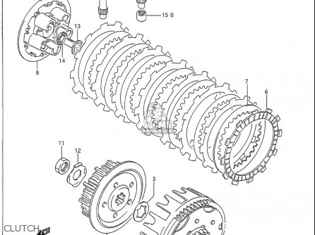 Suzuki Rm125 1989-1991 (usa) parts list partsmanual partsfiche