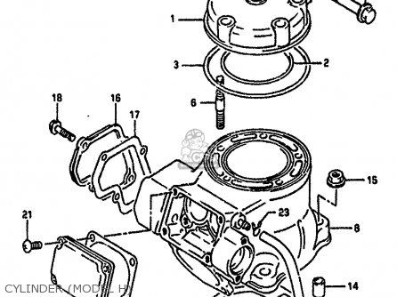 Suzuki Rm125 1989 (k) parts list partsmanual partsfiche