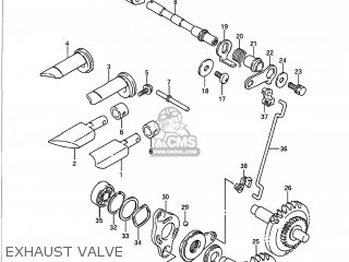 Suzuki Rm125 1989 (k) Usa (e03) parts list partsmanual