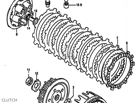 Suzuki Rm125 1990 (l) parts list partsmanual partsfiche